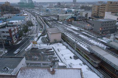 札幌の暗い朝